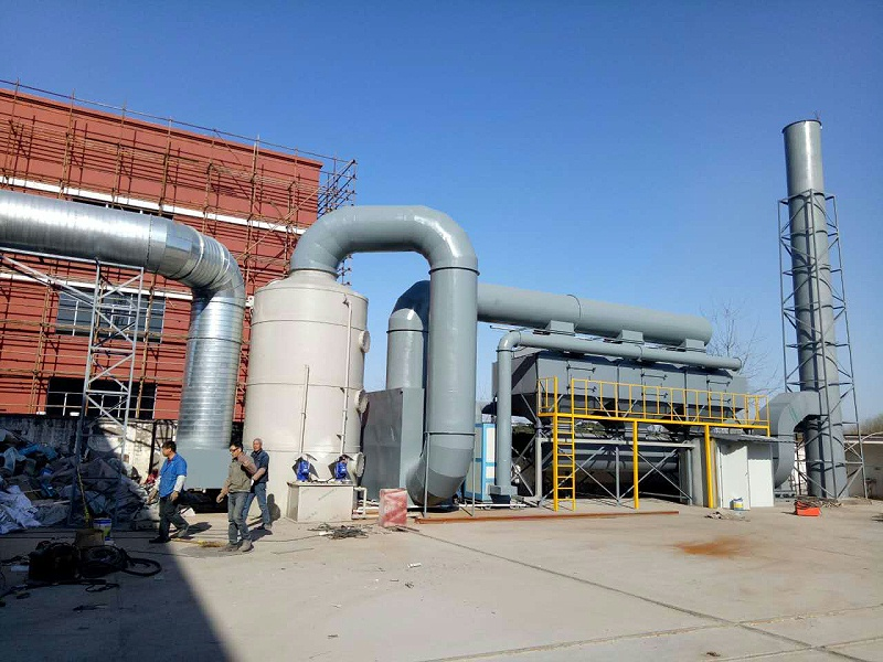 催化燃烧设备安装现场