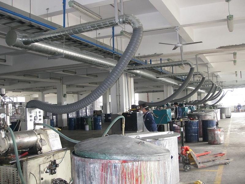 澳纳森的家具制造厂废气处理设备