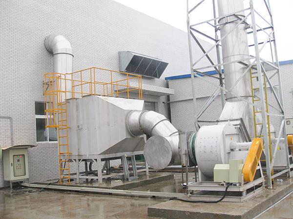 泗阳某新能源酸碱废气处理案例