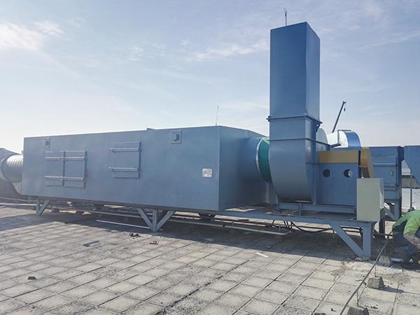 上海某涂料厂废气处理案例一期