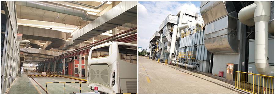 上海申龙客车有限公司工业废气设备图