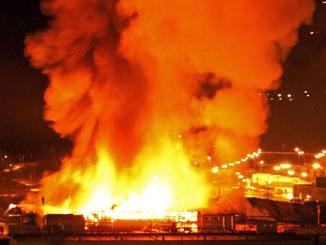 加拿大某锯木厂事故现场
